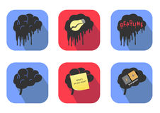 Concepts of brain icons. Vector Stock Images