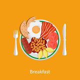 Concepts for breakfast time. Stock Photos
