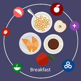Concepts for breakfast time. Royalty Free Stock Photo
