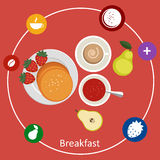 Concepts for breakfast time. Royalty Free Stock Photos