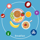 Concepts for breakfast time. Royalty Free Stock Image