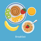 Concepts for breakfast time. Stock Image