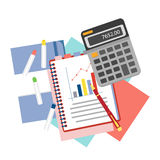 Concepts for business analysis, consulting,  and financial audit. Stock Image
