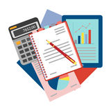 Concepts for business analysis, consulting,  and financial audit. Royalty Free Stock Image