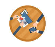 Concepts for business analysis, consulting. Flat design illustration concepts for business analysis, consulting, teamwork, project management, financial report Stock Photo