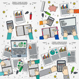 Concepts for business analysis and planning, consulting, team wo. Rk, project management,financial report and strategy.  Thin line icon Royalty Free Stock Image