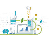 Concepts for business analysis and planning, financial strategy. Investment business. Royalty Free Stock Images