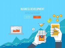 Concepts for business development, teamwork, financial report and strategy. Stock Photography