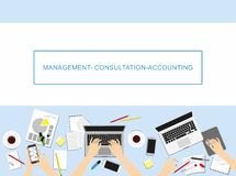 Concepts For Business, Marketing, Management, Accounting. Stock Image