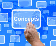 Concepts Button Showing Ideas Thinking And Creativity Stock Photo