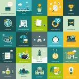 Concepts conçus plats d'affaires et de vente Photo libre de droits
