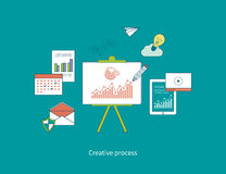 Concepts of creative process and data protection Stock Image