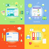 Concepts creative process graphic design, education development, office, business responsive agency. Concepts web education creative colorful design, education Royalty Free Stock Images