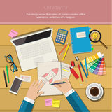 Concepts of creativity. For business. Flat design illustration Stock Images