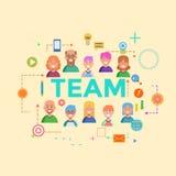 Concepts d'équipe de mot Bannière de conception pour le site Web et le site Web mobile, faciles à utiliser plat et fortement pers Images libres de droits