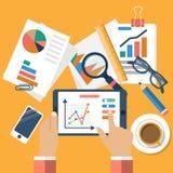 Concepts d'affaires, conception plate Photographie stock