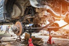 Concepts d'industrie automobile et de garage Photo stock