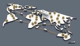 Concepts d'industrie de logistique Photographie stock libre de droits