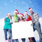Concepts d'unité de bonheur d'hiver d'amitié Photos libres de droits