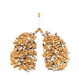 Concepts danger cigarettes for lungs Royalty Free Stock Photography