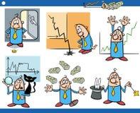 Concepts de bande dessinée d'affaires réglés Image stock