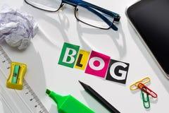Concepts de blog Photo stock