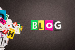 Concepts de blog Images stock