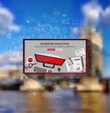 Concepts de construction plats de style pour la stratégie commerciale et la carrière Photo stock