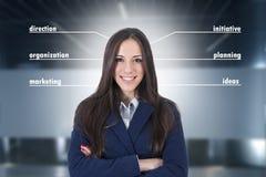 Concepts de femme d'affaires Image libre de droits
