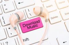 Concepts de la musique de téléchargement Image stock