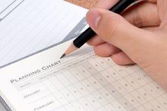 Concepts de plan de projet Forme vide de diagramme de planification des affaires Détails de diagramme vide de plan de projet pour image libre de droits