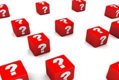 Concepts de question Photos stock