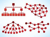 Concepts de réseau d'affaires illustration de vecteur