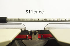 Concepts de silence Photographie stock