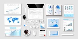 Concepts de statistique d'american national standard d'Infographic Vecteur Photographie stock