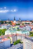 Concepts de voyage Centre de la ville historique de Tallin Photo faite à partir de T Image libre de droits