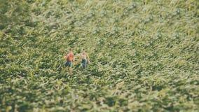 Concepts de voyage et d'aventure Chiffre miniature wa de voyageur mini Image stock