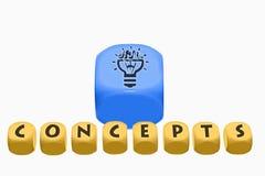 Concepts de Word sur des cubes photographie stock libre de droits