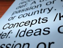 Concepts Definition Closeup. Concept Definition Closeup Shows Ideas Thoughts Or Invention Stock Image