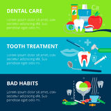 Concepts of dental care, bad habits and tooth treatment Stock Images