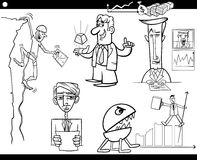 Concepts et idées de bande dessinée d'affaires réglés Photos libres de droits