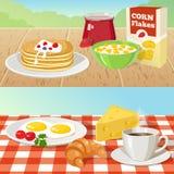 Concepts extérieurs de petit déjeuner illustration stock