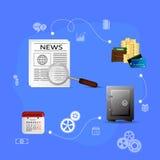 Concepts financial analytics. Vector Illustration concepts control payment, financial analytics, online banking Stock Image