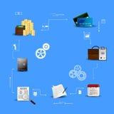 Concepts financial analytics. Vector Illustration concepts control payment, financial analytics, online banking Stock Photo