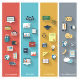 Concepts in flat design Royalty Free Stock Image