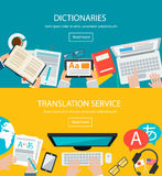 Concepts for foreign language translation Royalty Free Stock Images