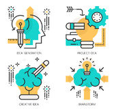 Concepts of Idea Generation , Project Idea Royalty Free Stock Photo