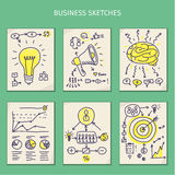 Concepts of idea. Sketches Royalty Free Stock Photography