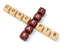 Concepts and Ideas crosswords Stock Image