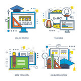 Concepts of this illustration - learning, online education and  technologies Royalty Free Stock Photography